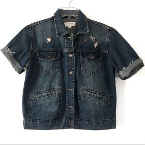 PacSun | Denim Jacket With Short Sleeves
